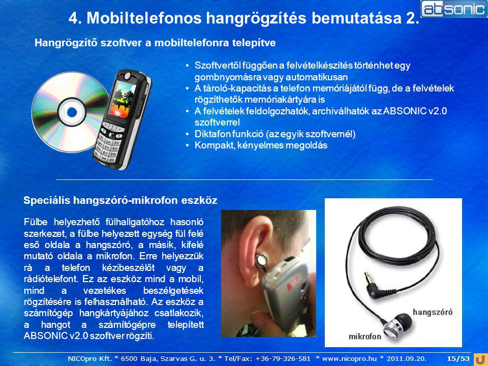 4. Mobiltelefonos hangrögzítés bemutatása 2.