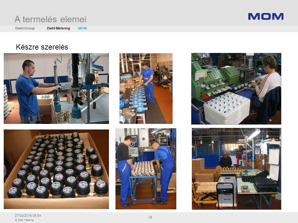 A termelés elemei Diehl Group Diehl Metering MOM Készre szerelés