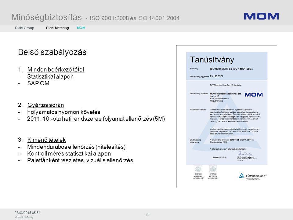 Minőségbiztosítás - ISO 9001:2008 és ISO 14001:2004
