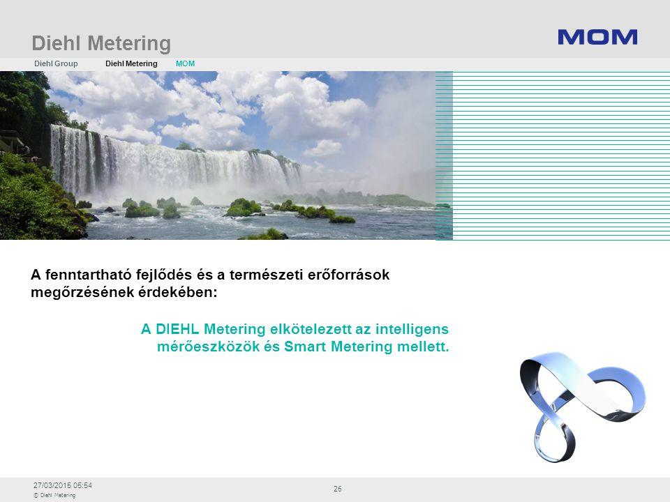 Diehl Metering Diehl Group. Diehl Metering. MOM. A fenntartható fejlődés és a természeti erőforrások megőrzésének érdekében: