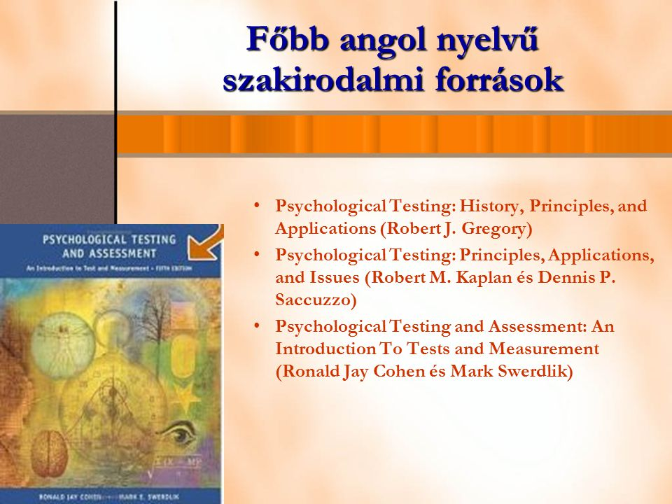 Főbb angol nyelvű szakirodalmi források