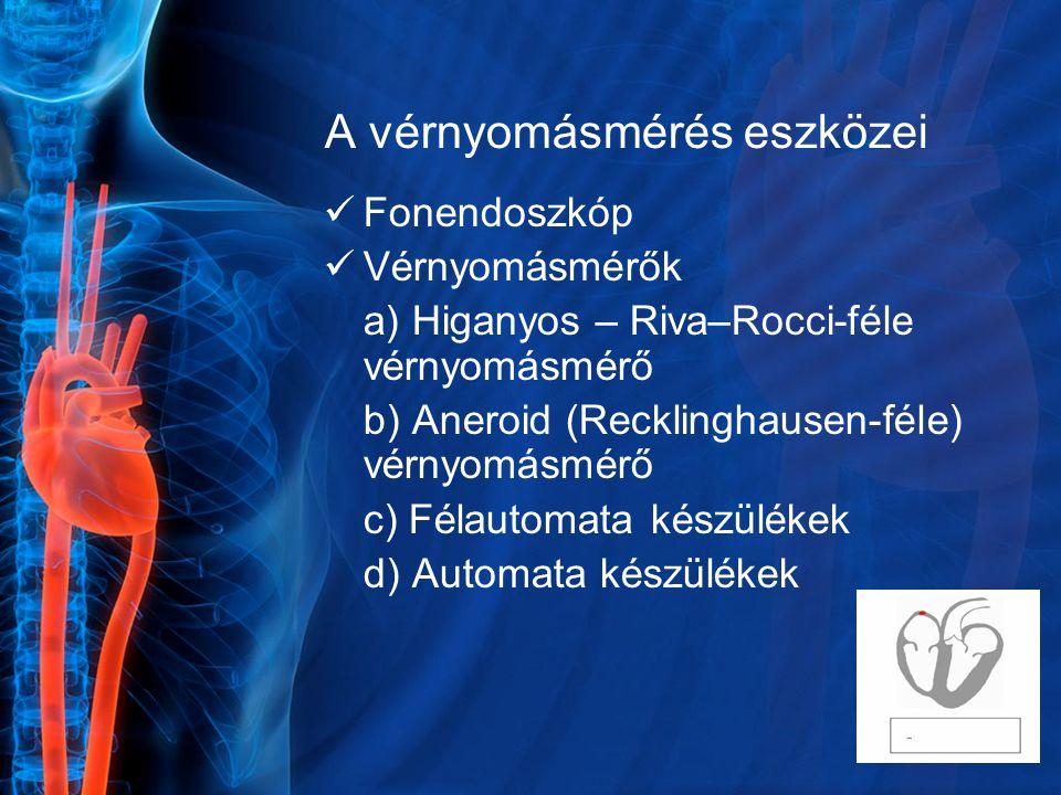 A vérnyomásmérés eszközei