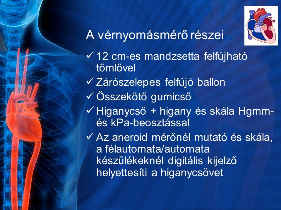 A vérnyomásmérő részei