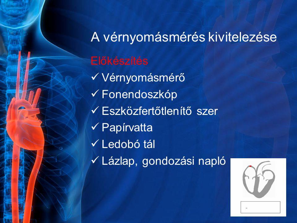 A vérnyomásmérés kivitelezése