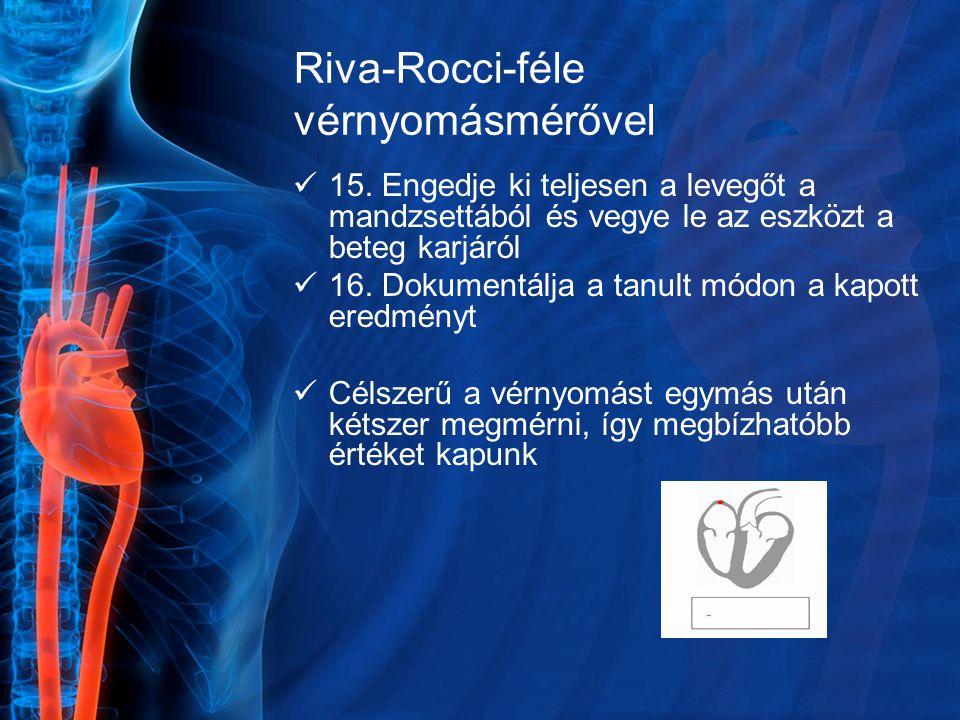 Riva-Rocci-féle vérnyomásmérővel