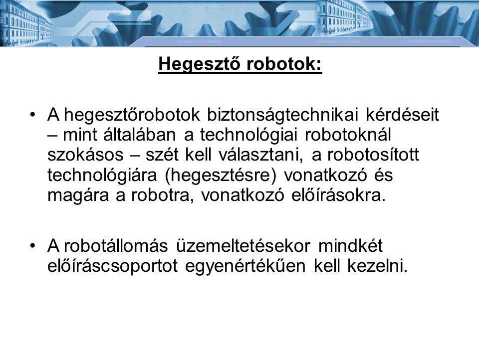Hegesztő robotok:
