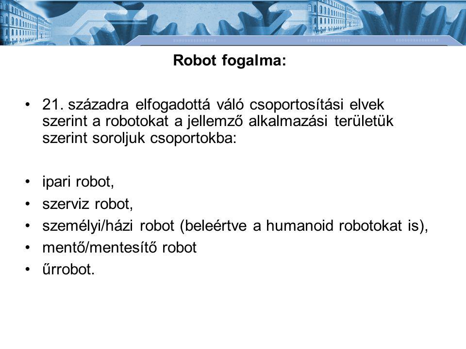 Robot fogalma: