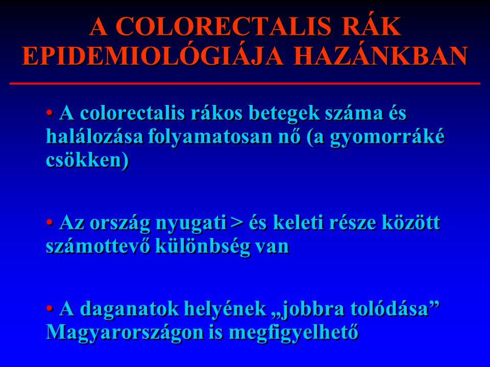 A COLORECTALIS RÁK EPIDEMIOLÓGIÁJA HAZÁNKBAN