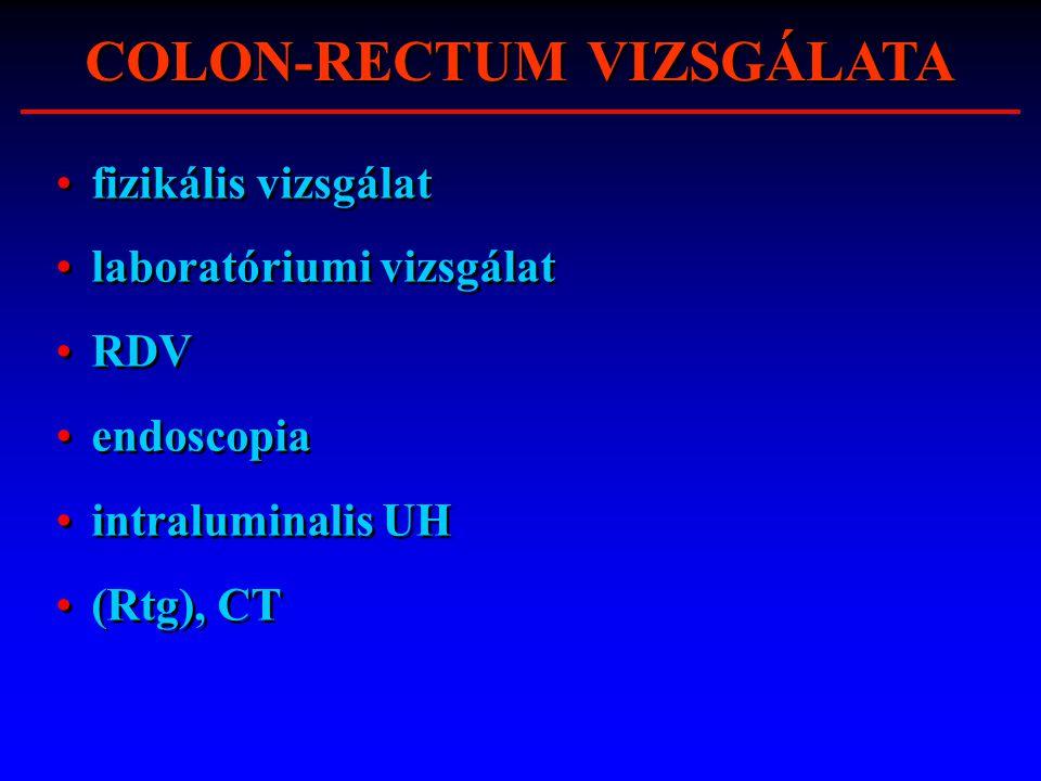 COLON-RECTUM VIZSGÁLATA