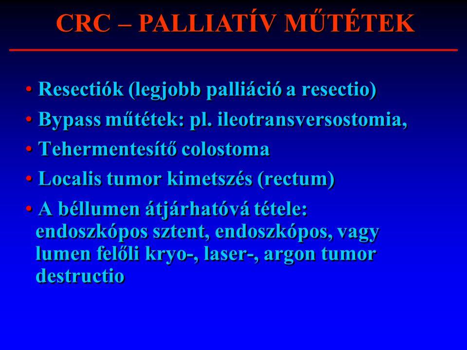 CRC – PALLIATÍV MŰTÉTEK