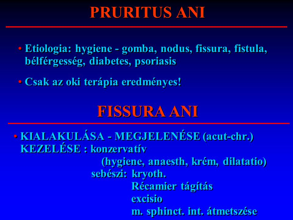 PRURITUS ANI FISSURA ANI