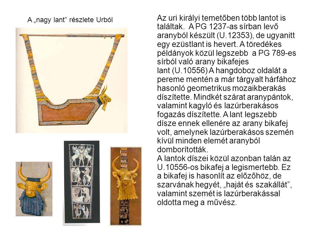 Az uri királyi temetőben több lantot is találtak