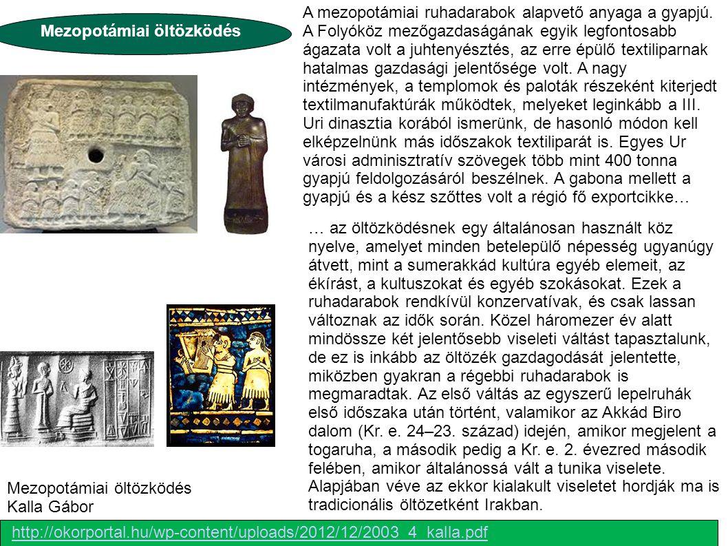 Mezopotámiai öltözködés