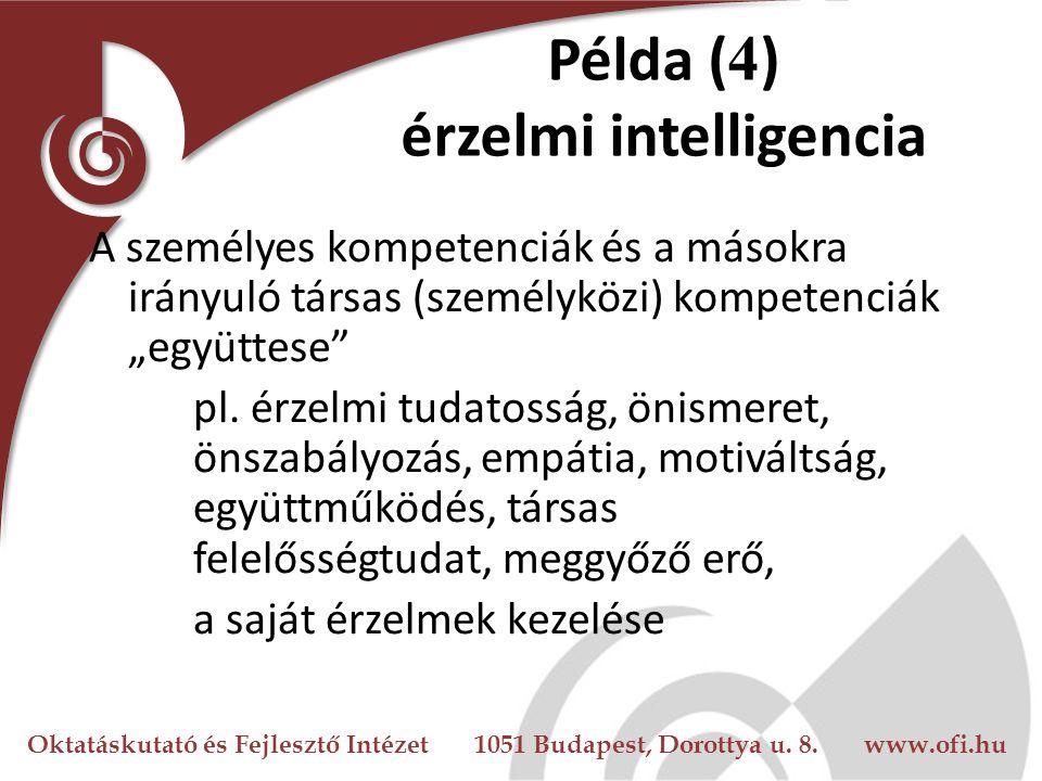 Példa (4) érzelmi intelligencia