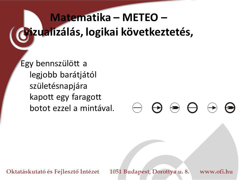 Matematika – METEO – vizualizálás, logikai következtetés,
