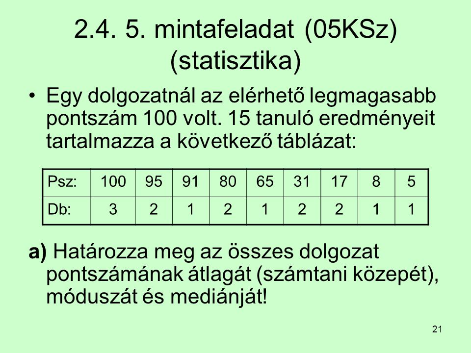 2.4. 5. mintafeladat (05KSz) (statisztika)