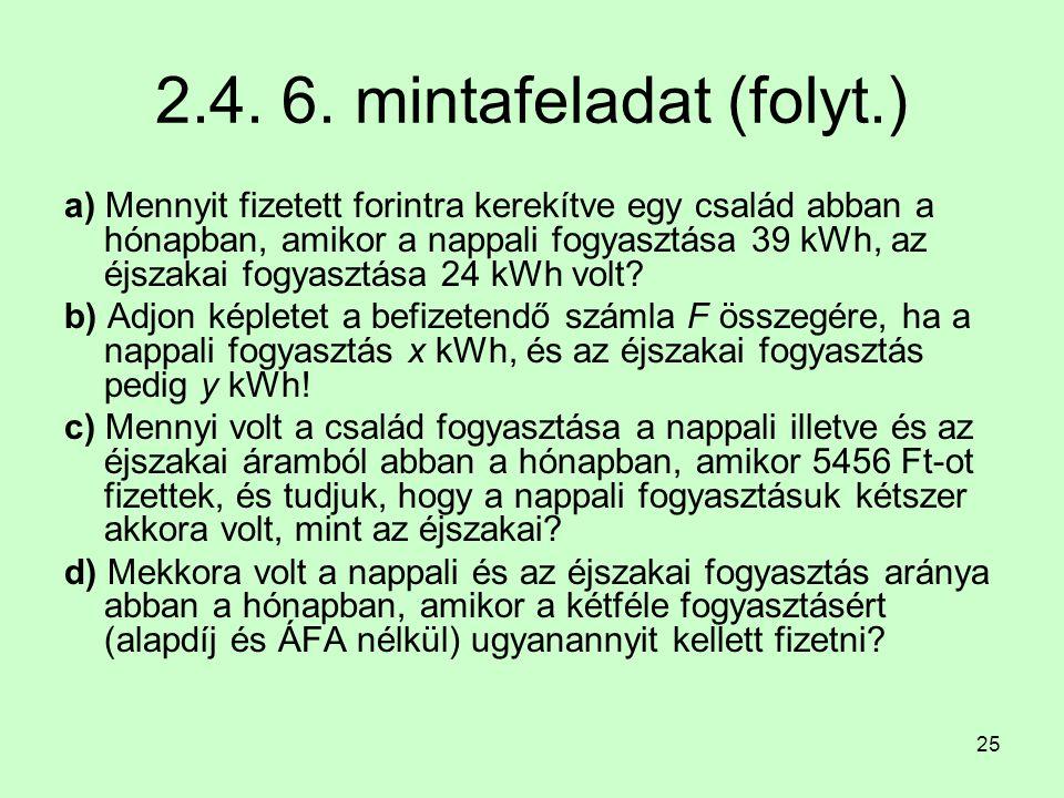 2.4. 6. mintafeladat (folyt.)