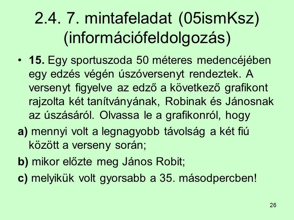2.4. 7. mintafeladat (05ismKsz) (információfeldolgozás)