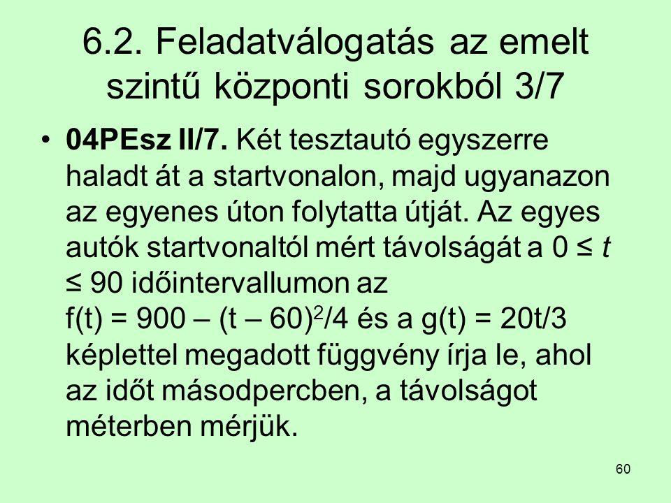 6.2. Feladatválogatás az emelt szintű központi sorokból 3/7