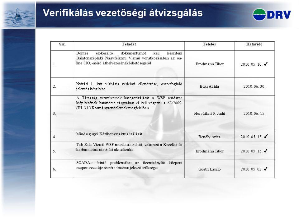 Verifikálás vezetőségi átvizsgálás