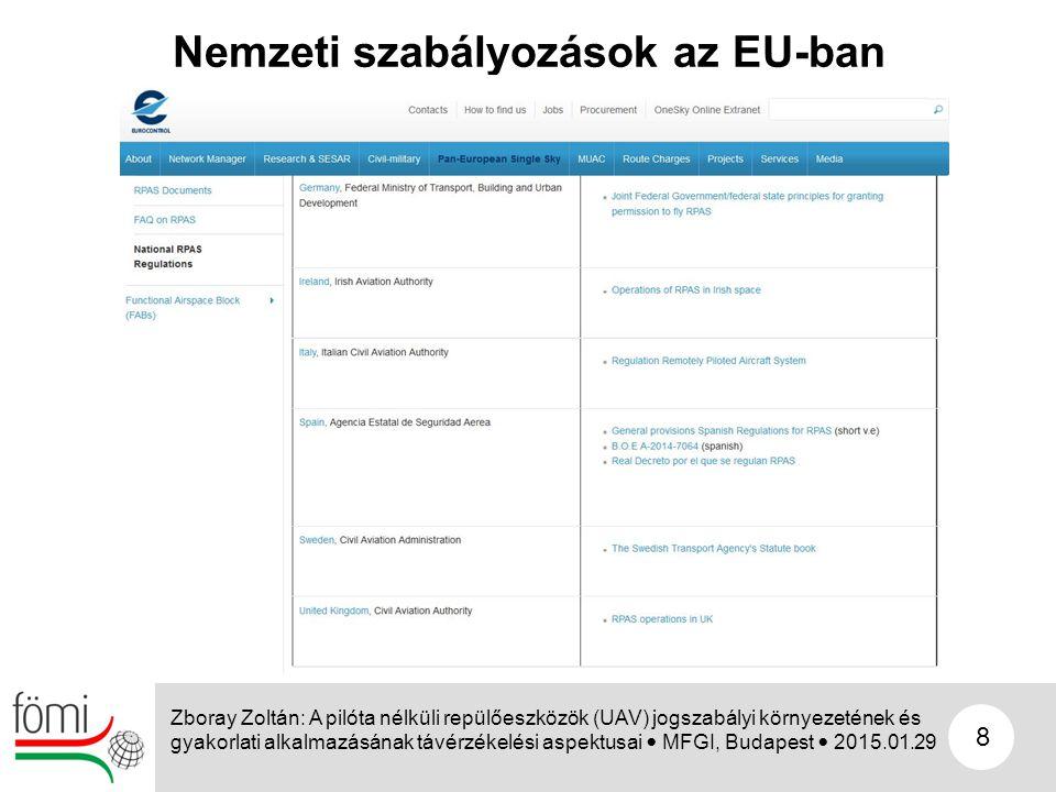 Nemzeti szabályozások az EU-ban