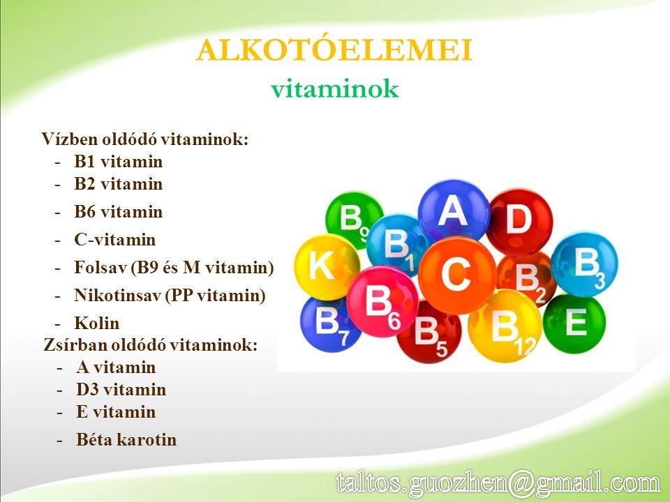 ALKOTÓELEMEI vitaminok taltos.guozhen@gmail.com