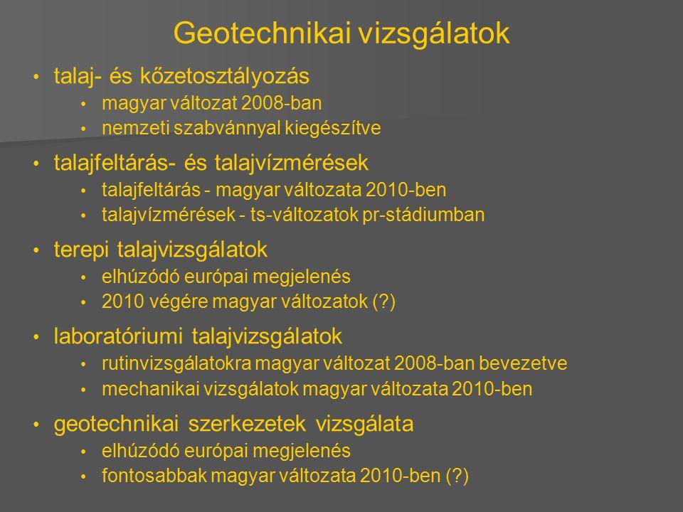 Geotechnikai vizsgálatok