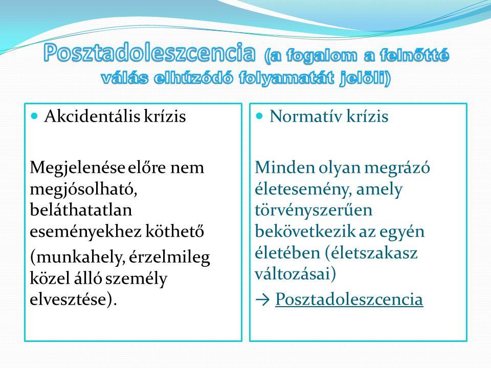 Posztadoleszcencia (a fogalom a felnőtté válás elhúzódó folyamatát jelöli)