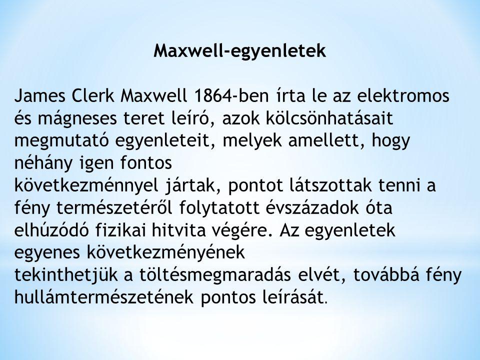 Maxwell-egyenletek
