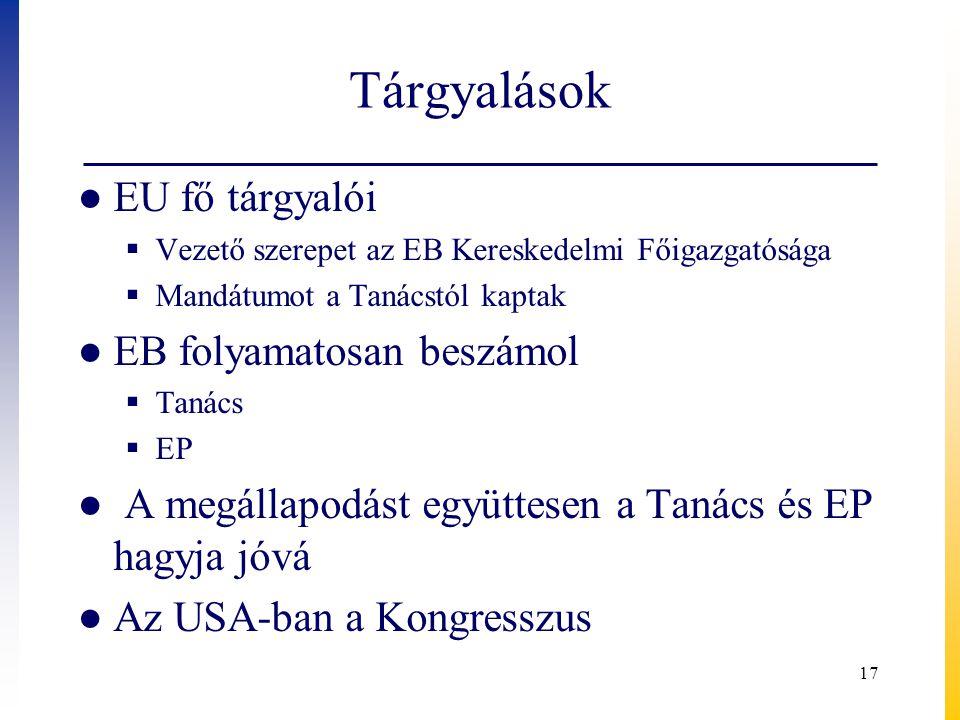 Tárgyalások EU fő tárgyalói EB folyamatosan beszámol