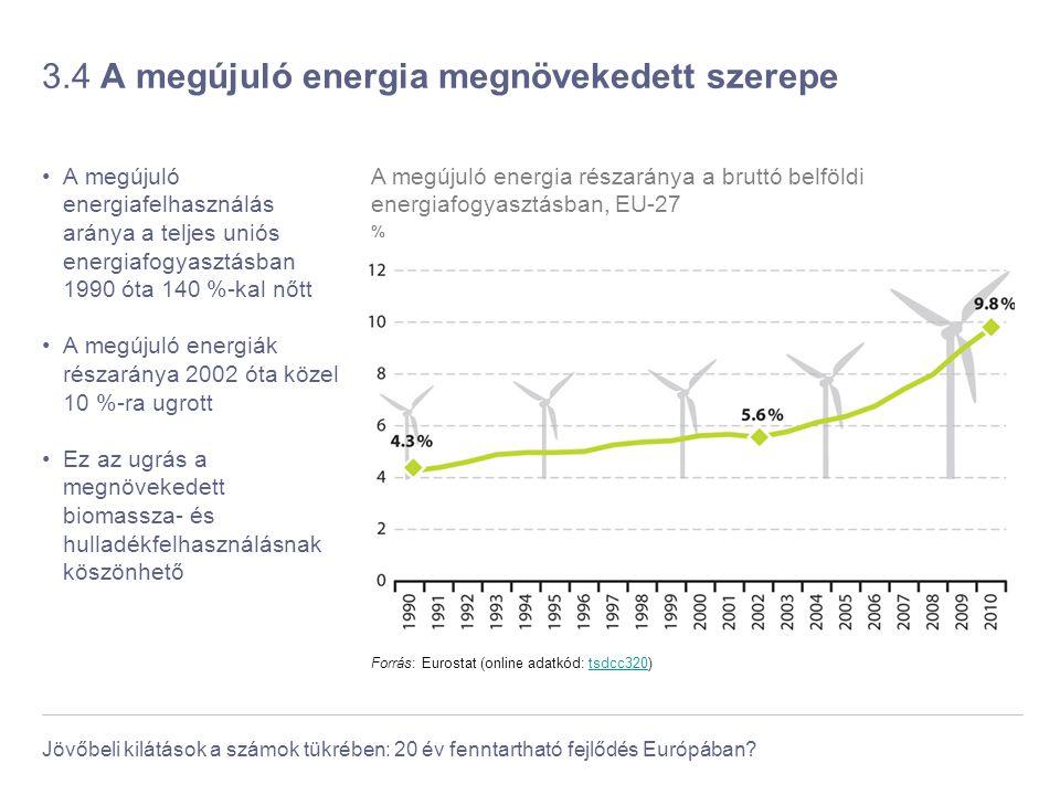3.4 A megújuló energia megnövekedett szerepe