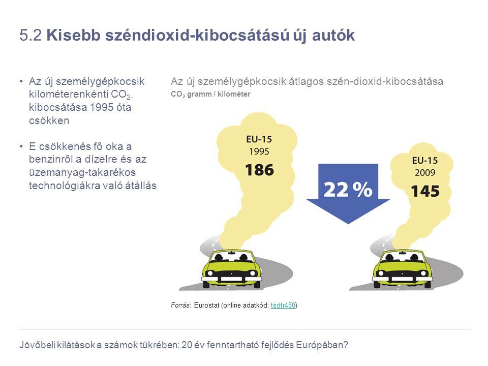 5.2 Kisebb széndioxid-kibocsátású új autók