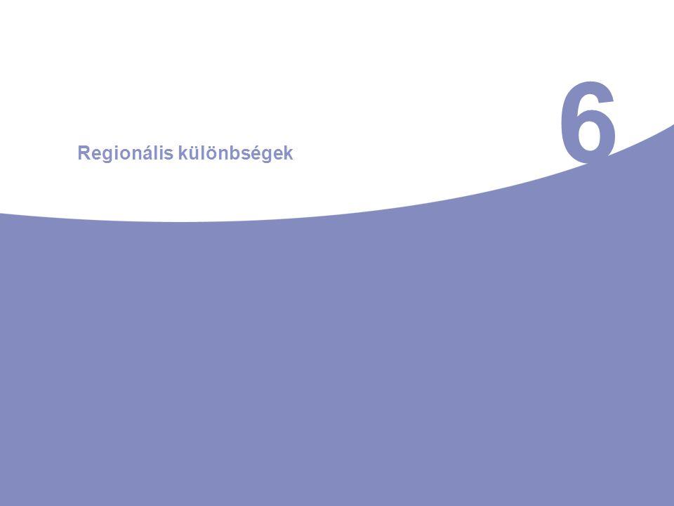 6 Regionális különbségek