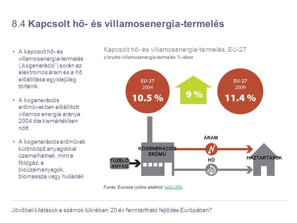 8.4 Kapcsolt hő- és villamosenergia-termelés