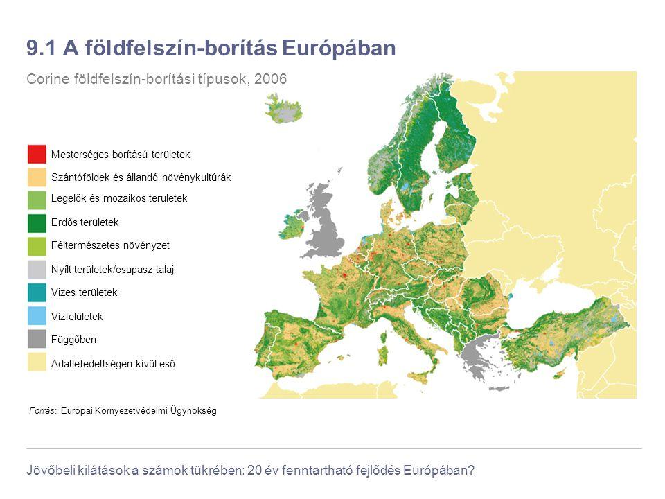 9.1 A földfelszín-borítás Európában