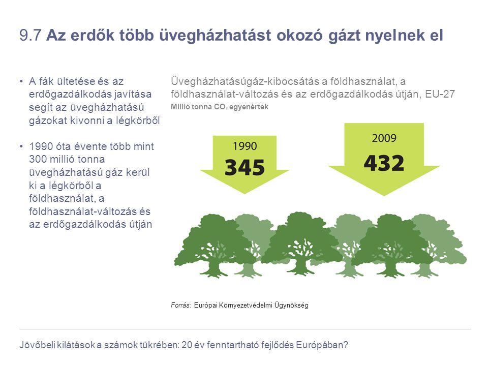9.7 Az erdők több üvegházhatást okozó gázt nyelnek el