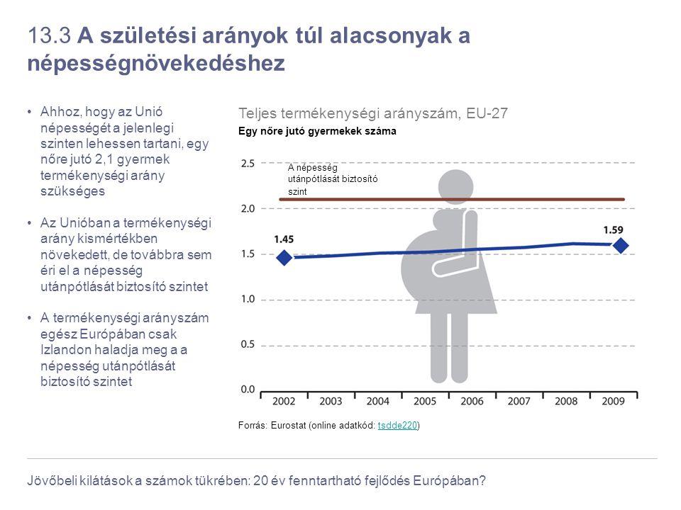 13.3 A születési arányok túl alacsonyak a népességnövekedéshez