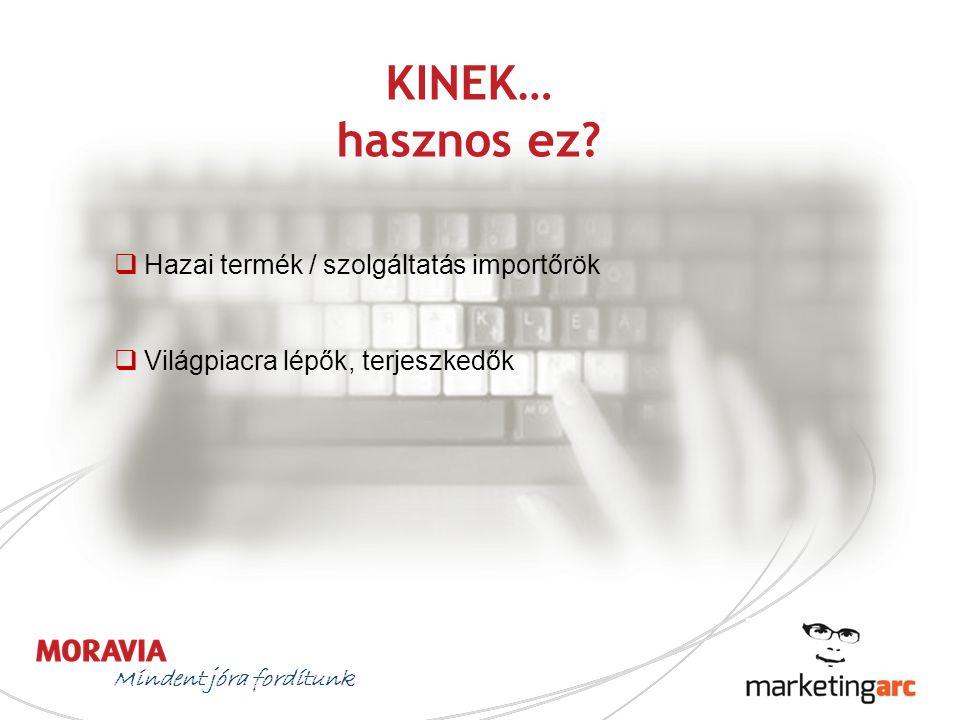 KINEK… hasznos ez Hazai termék / szolgáltatás importőrök