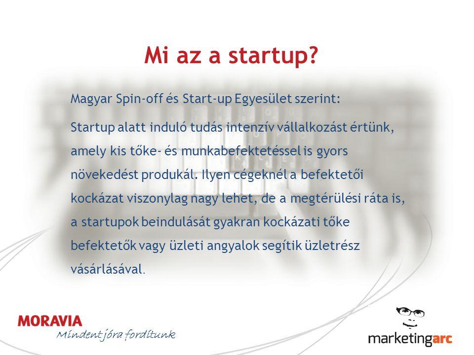 Mi az a startup Magyar Spin-off és Start-up Egyesület szerint: