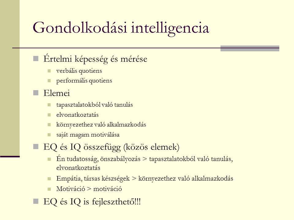 Gondolkodási intelligencia