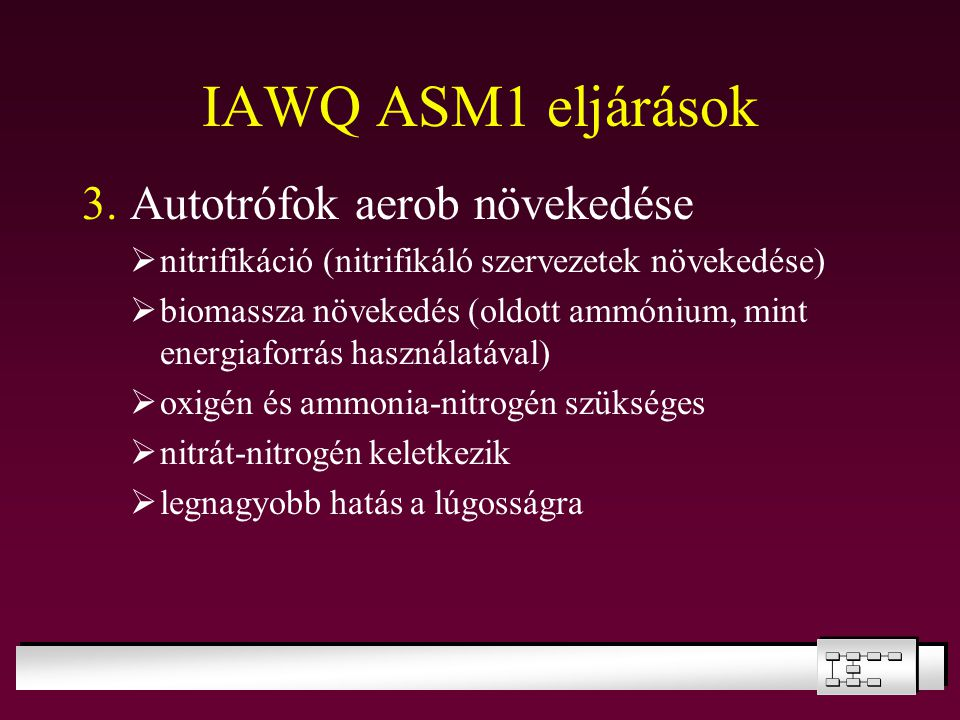 IAWQ ASM1 eljárások 3. Autotrófok aerob növekedése