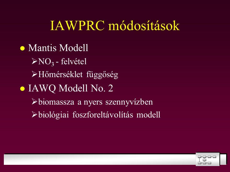 IAWPRC módosítások Mantis Modell IAWQ Modell No. 2 NO3 - felvétel