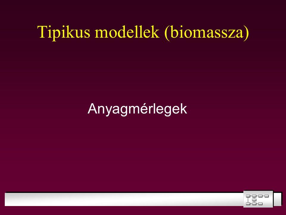 Tipikus modellek (biomassza)