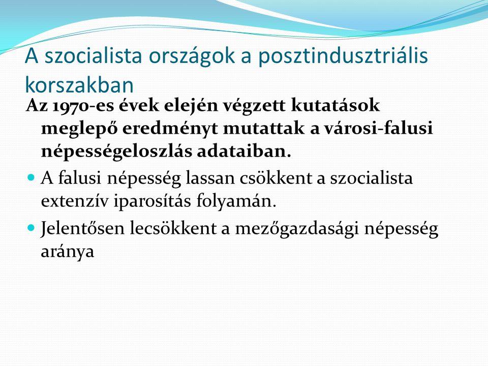 A szocialista országok a posztindusztriális korszakban