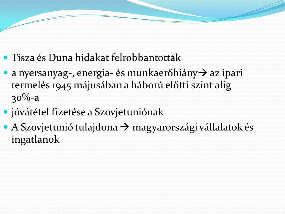 Tisza és Duna hidakat felrobbantották