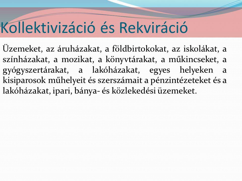 Kollektivizáció és Rekviráció