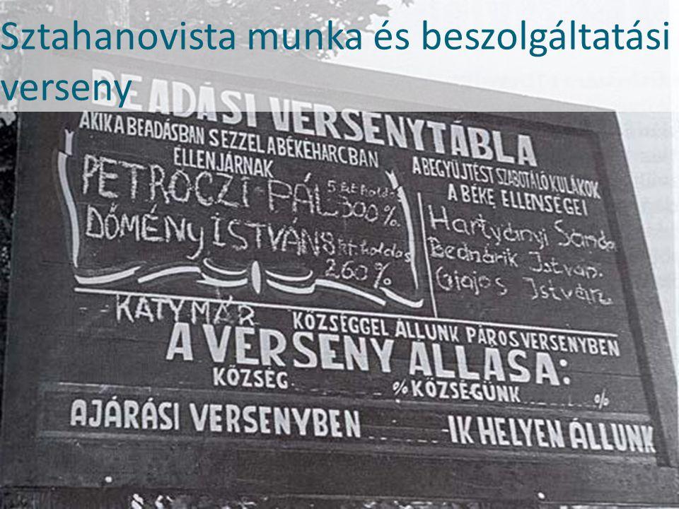 Sztahanovista munka és beszolgáltatási verseny