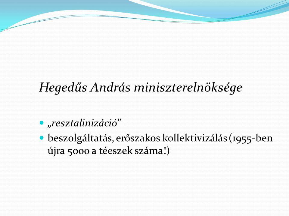 Hegedűs András miniszterelnöksége