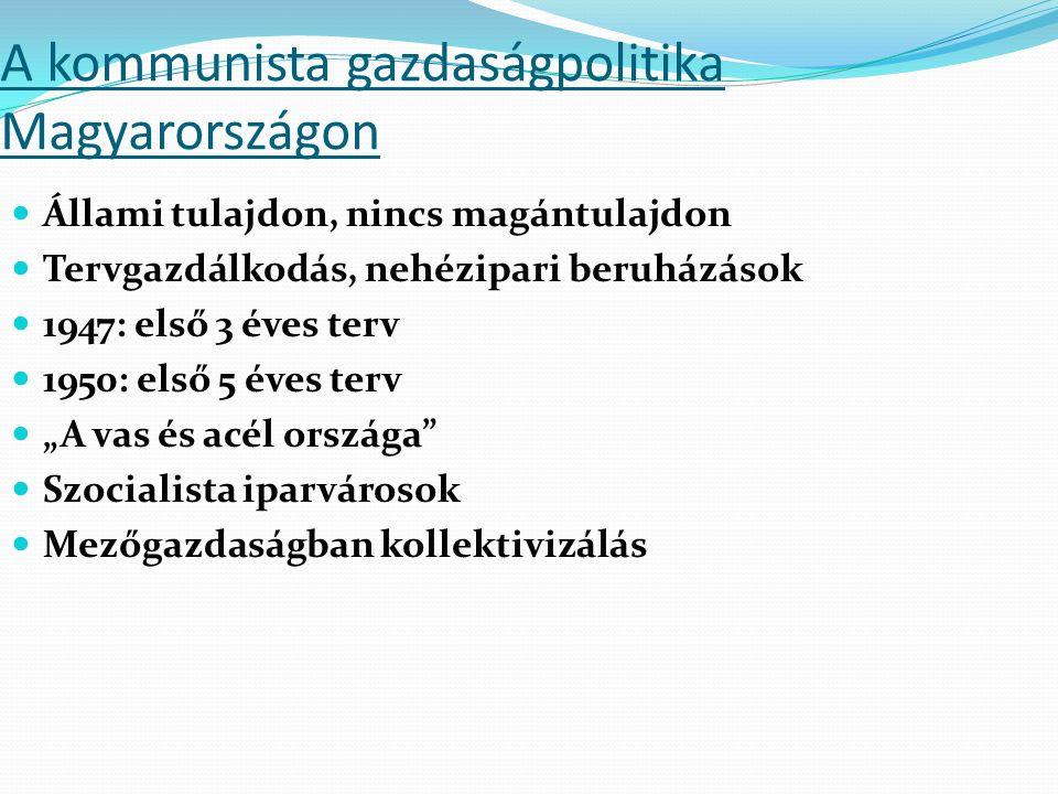 A kommunista gazdaságpolitika Magyarországon