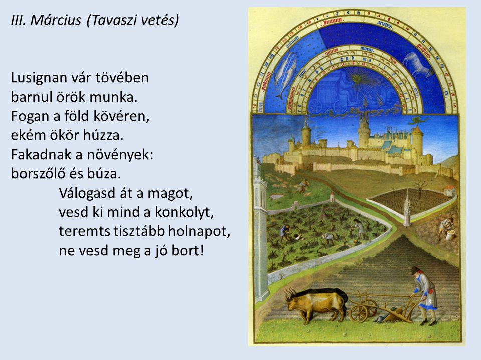 III. Március (Tavaszi vetés)